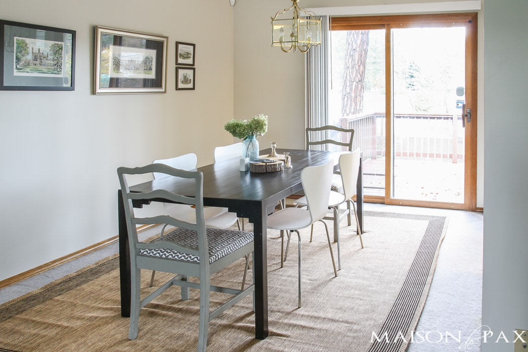 Before: carpet in the dining room?!?! Try this incredible budget-friendly transformation for high-traffic areas!