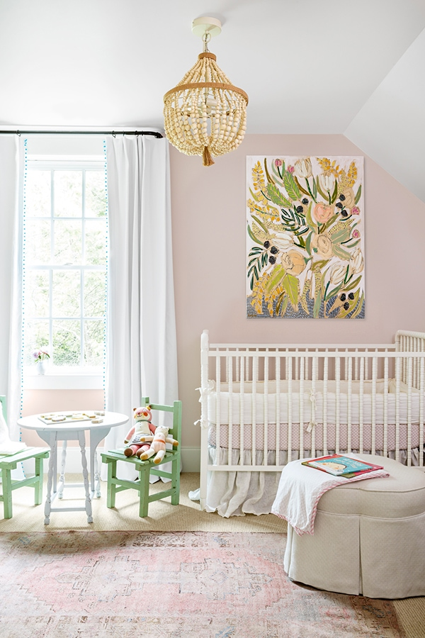 pale pink and green nursery- maison de pax