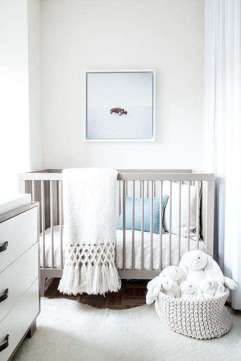 blue and gray nursery- Maison de Pax