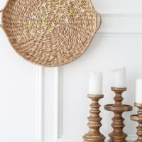 Easy Spring Wall Art: Basket and Flowers