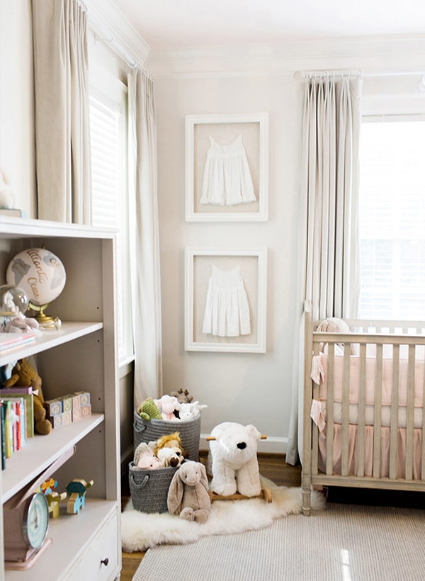 white and grayish taupe nursery-Maison de Pax