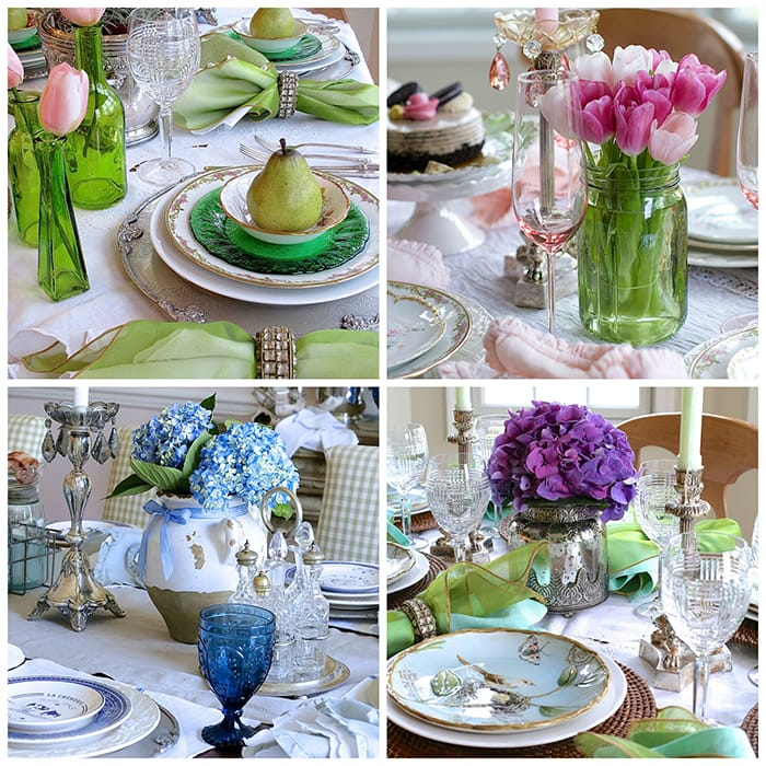 gorgeous spring tablescapes