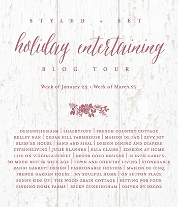 Holiday entertaining blog tour- Maison de Pax