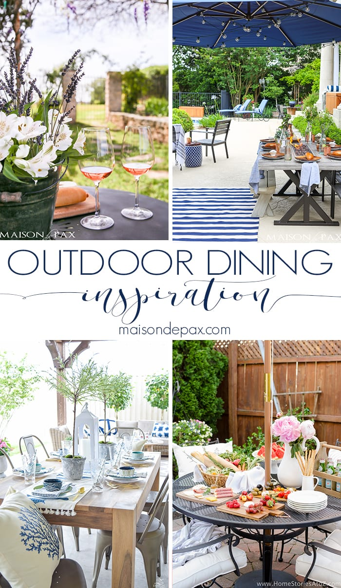 Outdoor Dining Inspiration— Maison de Pax