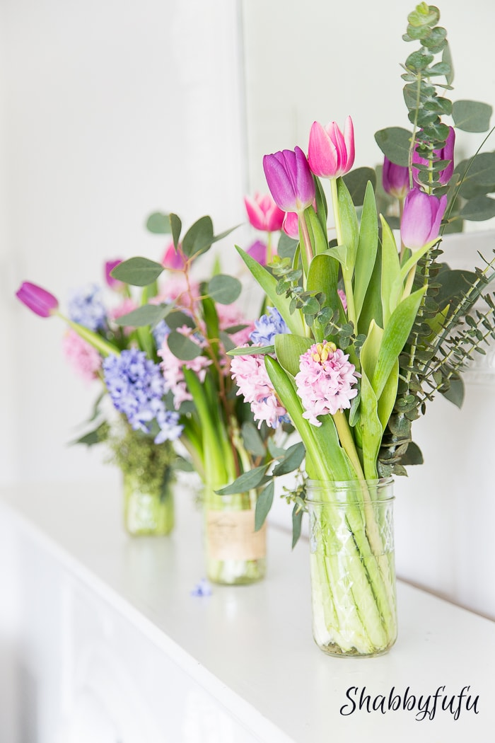 how to extend your flowers... gorgeous cut flower arrangments