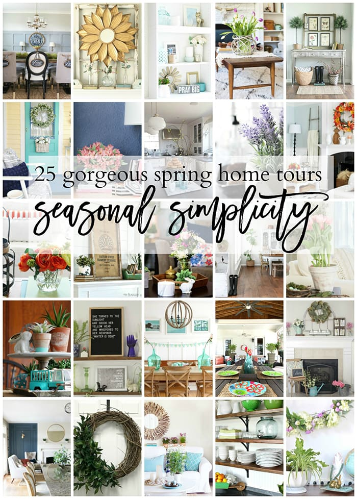25 gorgeous spring home tours: beautiful homes full of simple, easy spring decorating tips
