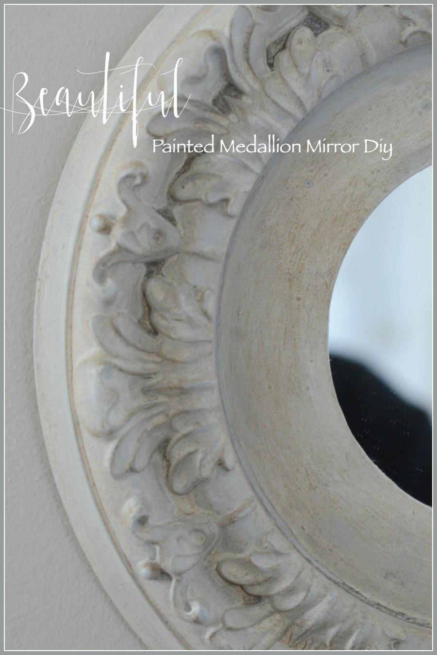 diy painted medallion mirror