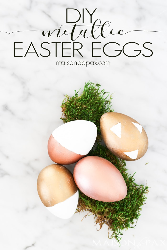 Looking for a fun, easy Easter craft? Try these DIY metallic easter eggs for a chic yet simple Easter project. Plus, find 25 other Easter craft ideas!