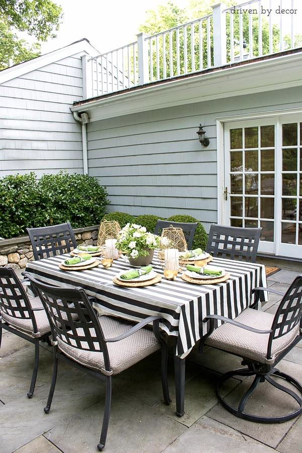 Striped Coastal Patio Set