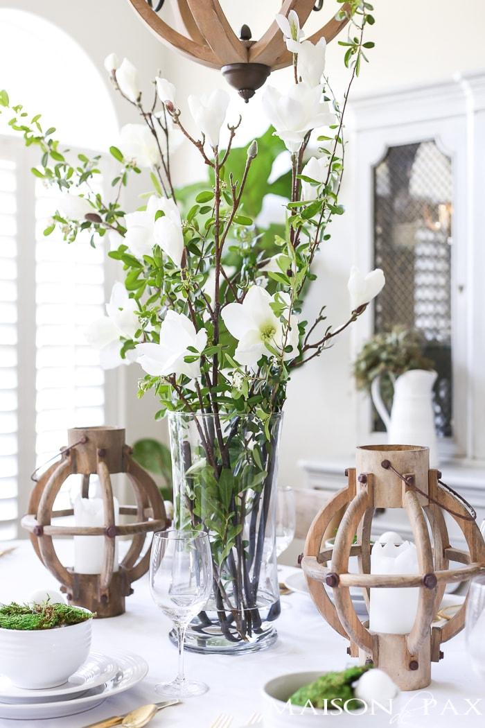 Spring floral centerpiece- Maison de Pax