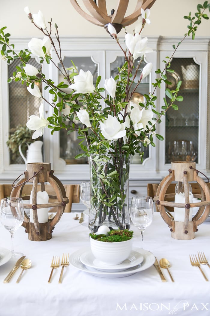 White floral arrangement for Easter- Maison de Pax