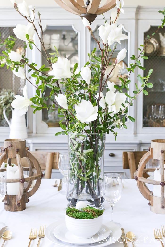 Beautiful table centerpieces and floral arrangements- Maison de Pax