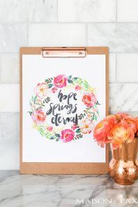 Hope Springs Eternal: Free Spring Printable