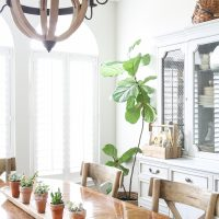 Simple Spring Dining Room Decorating Ideas