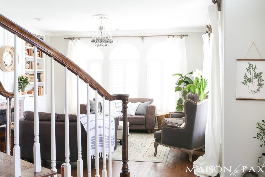 Spring living room decorating ideas maison de pax for Spring living room decorating ideas