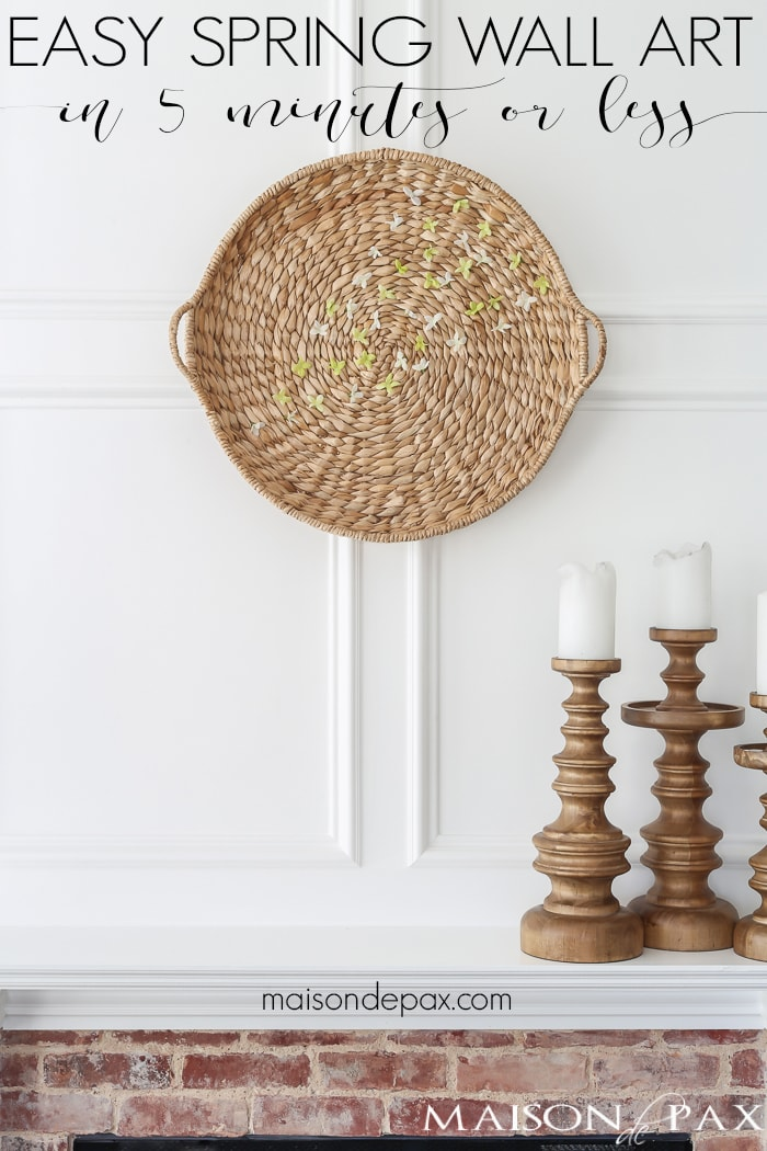 easy spring wall art basket and flowers maison de pax