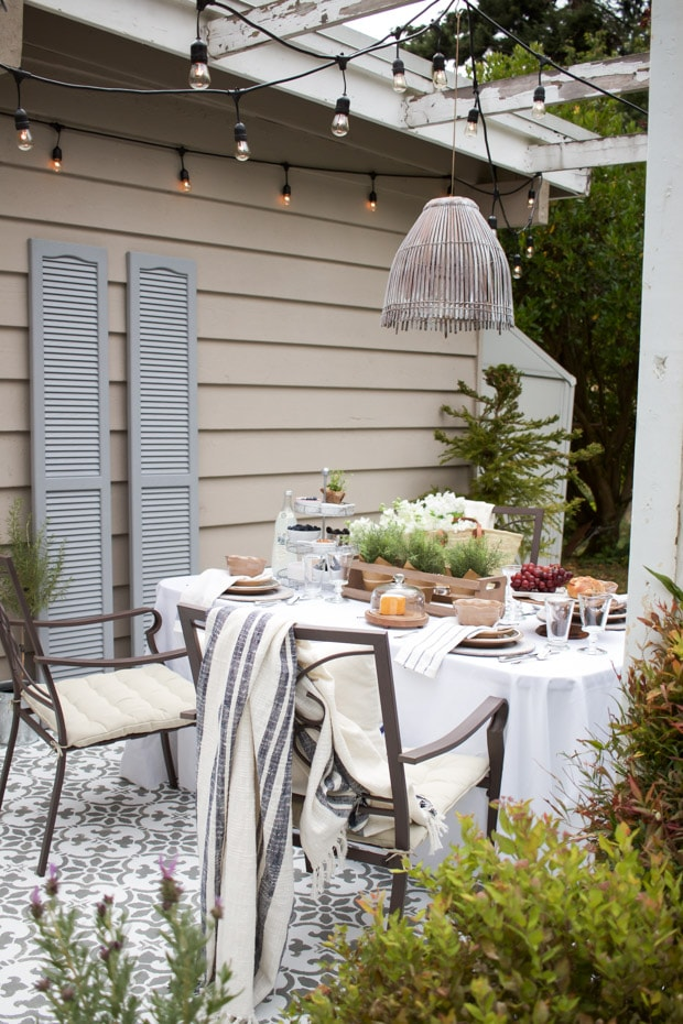 Dining Set with White Linens