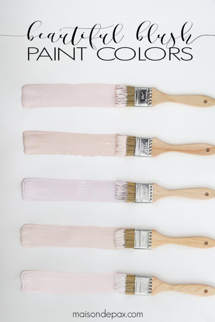 Beautiful Blush Paint Colors Maison De Pax