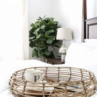 Natural, Neutral, White Master Bedroom (+ Giveaway)