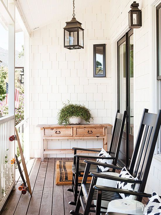 Black and white porch inspiration- Maison de Pax