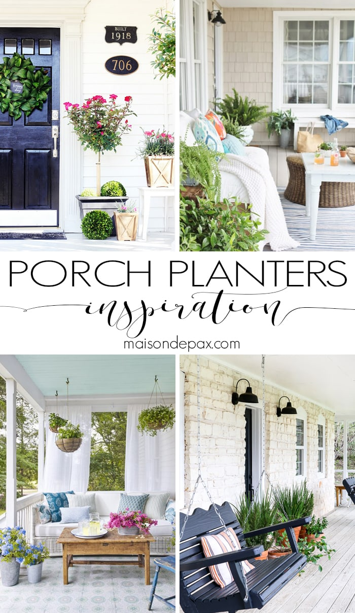 winter porch planters holiday event