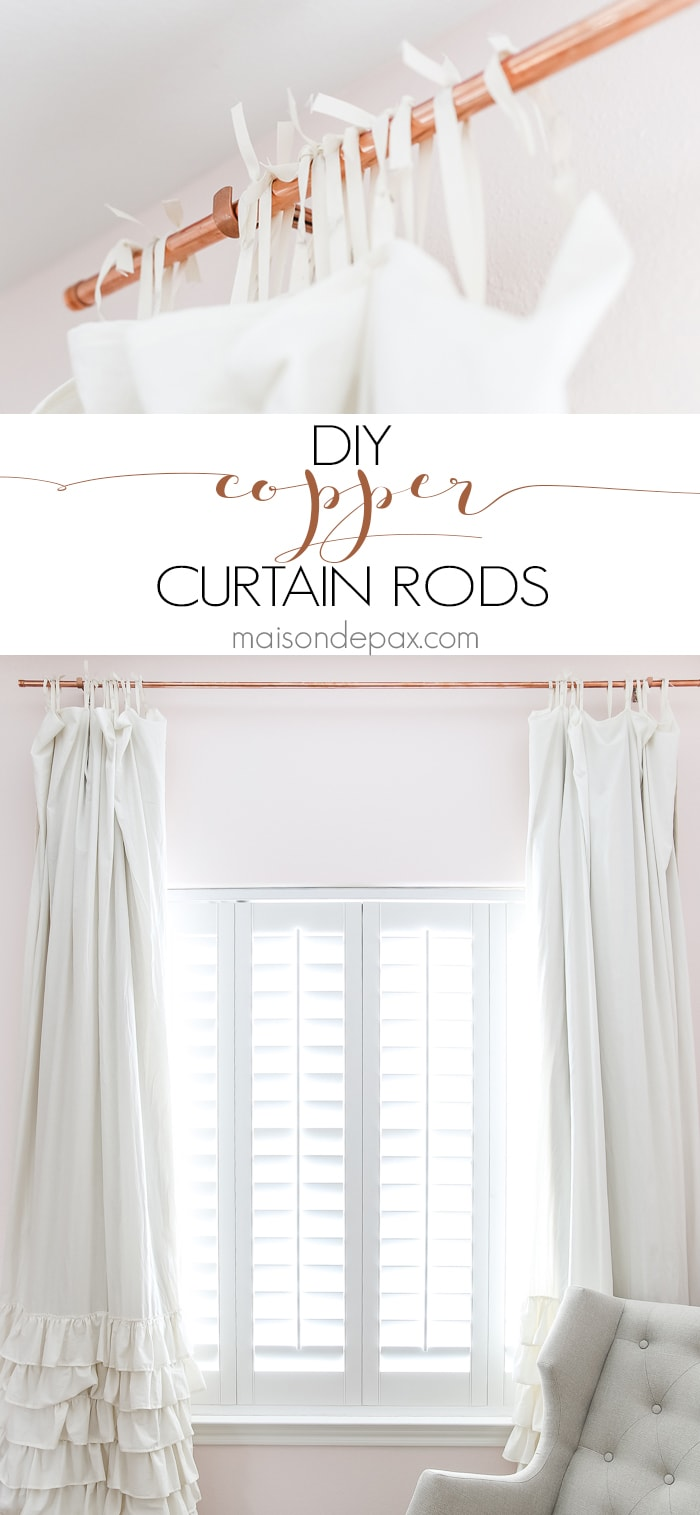 Diy Copper Curtain Rods Maison De Pax