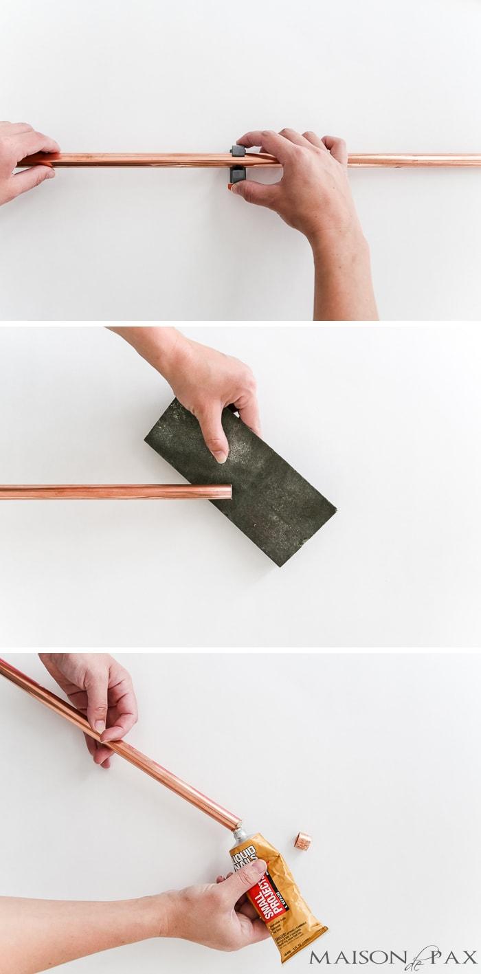 Diy Copper Curtain Rods Maison De Pax
