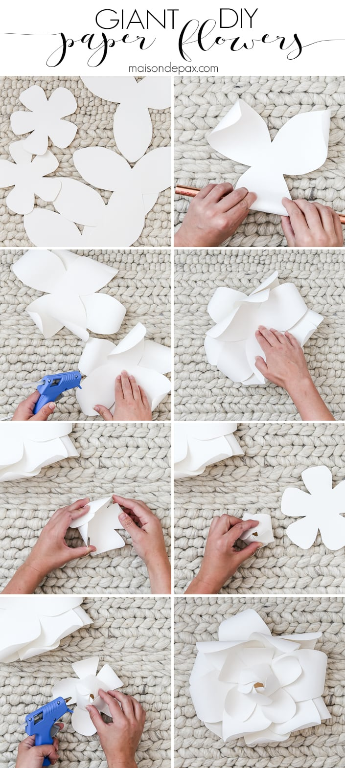 Diy Giant Paper Flowers Tutorial Maison De Pax