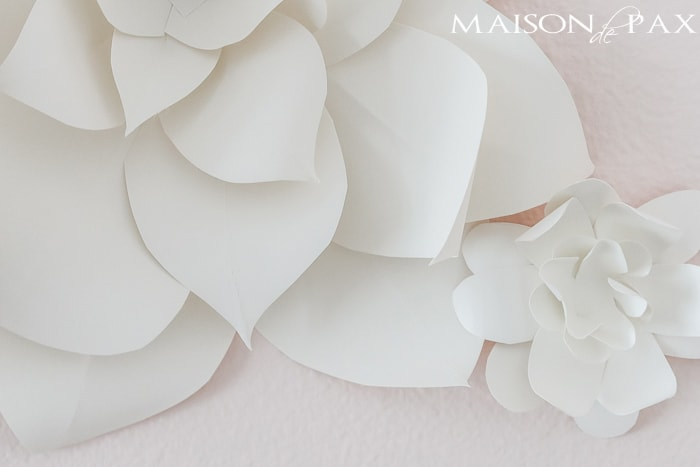Diy giant paper flowers tutorial maison de pax step by step paper flower instructions maison de pax mightylinksfo