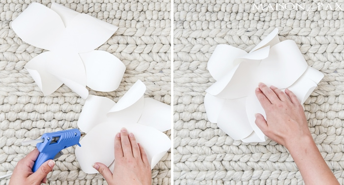 DIY Paper Flowers: Incredible! Learn how to make these gorgeous, elegant, giant paper flowers with this step by step tutorial.