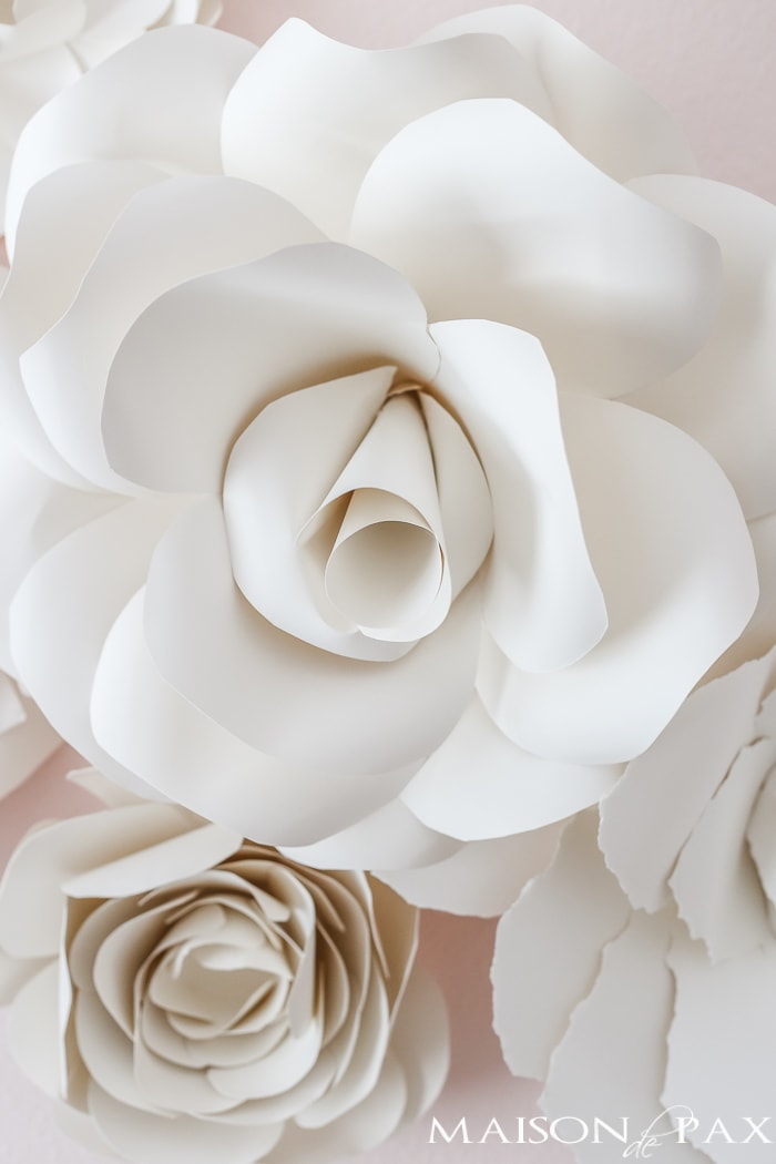 paper flowers made with french paper- Maison de Pax