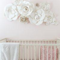 Paper Flower Wall Art in the Nursery