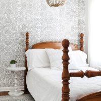 Serene Gray and White Little Girl's Room