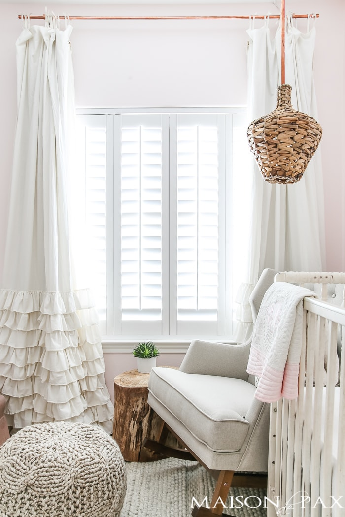 Blush paint and baby girl nursery- Maison de Pax