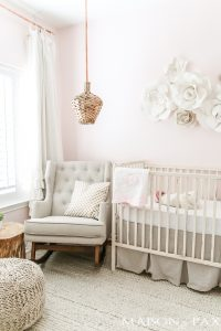 Blush Nursery with Neutral Textures