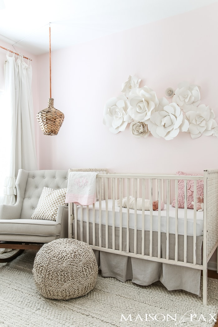 blush nursery with neutral textures maison de pax. Black Bedroom Furniture Sets. Home Design Ideas