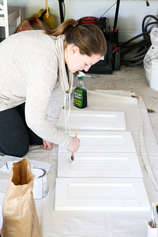 Painting cabinets- Maison de Pax