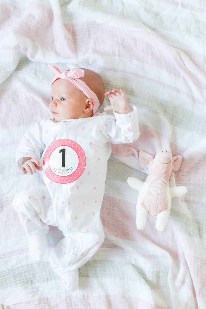 1 month old baby girl- Maison de Pax