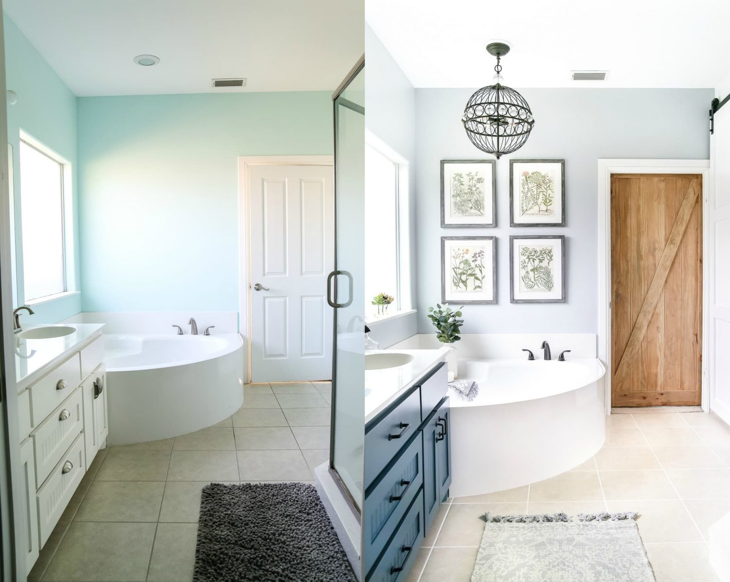 Master Bath Retreat before and after- Maison de Pax