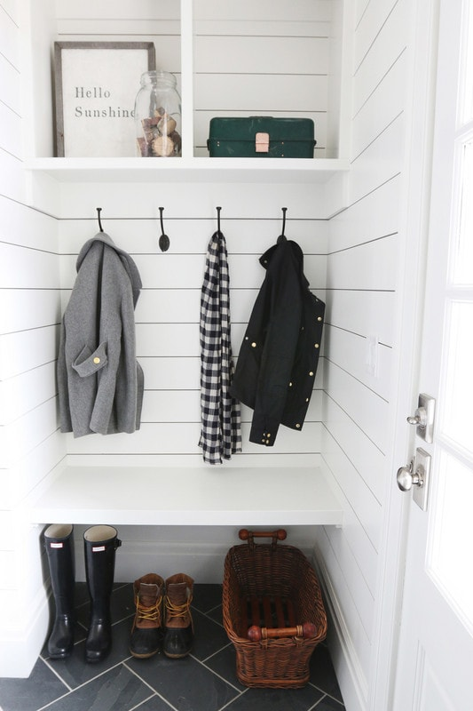 Shiplap Mudroom Space