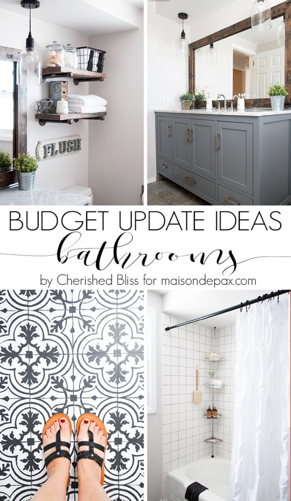 Budget bathroom updates can save both time and money when trying to affordably remodel your home. Don't miss these cheap bathroom remodel ideas.