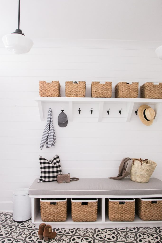 Mudroom ideas for small spaces, laundry rooms, hallways, and more.
