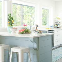 A Happy Kitchen: White Kitchen with a Coastal Vibe