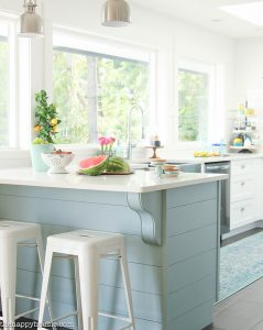 A Happy Kitchen: White Kitchen with a Coastal Vibe
