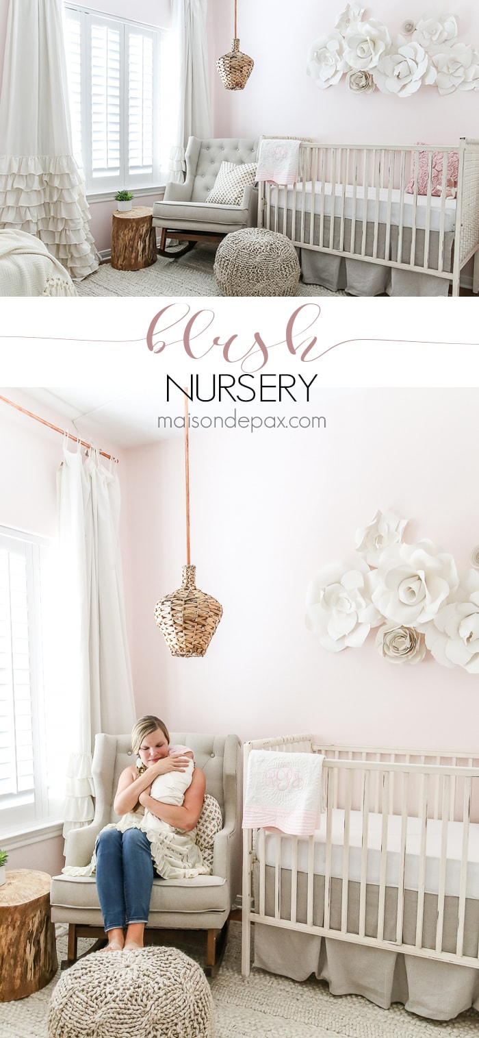 Blush nursery inspiration- Maison de Pax