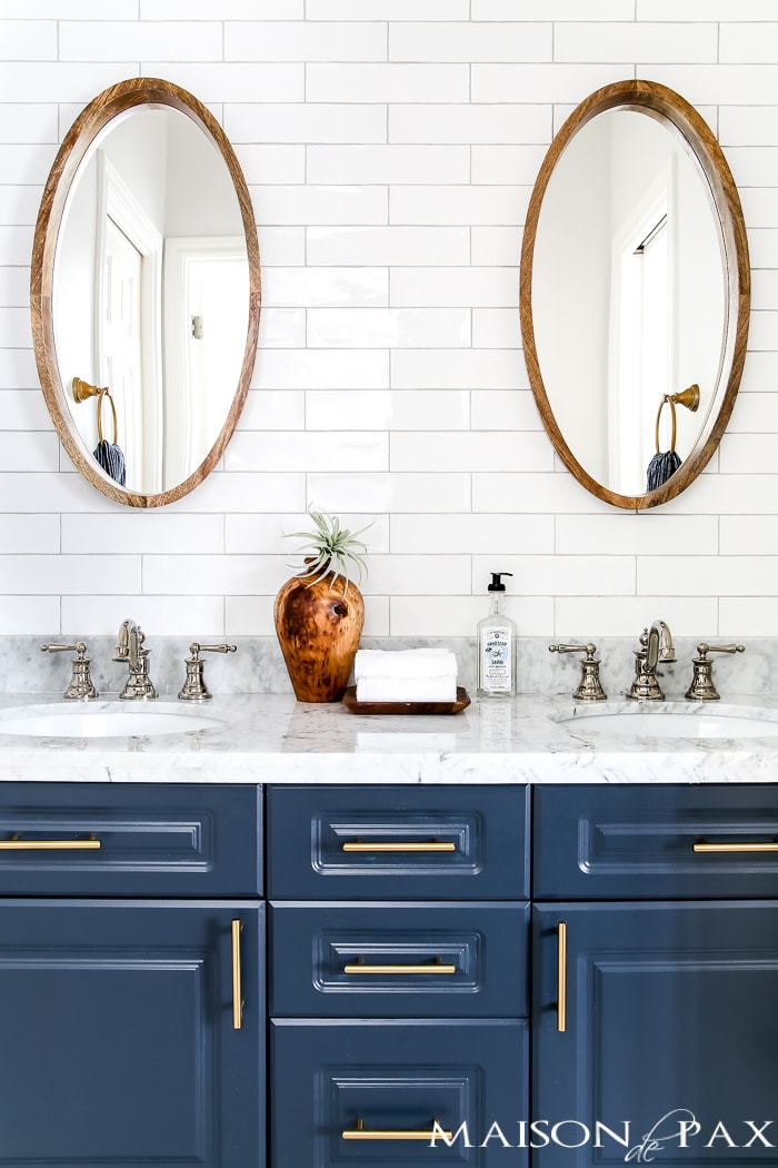 paint your vanity to give your bathroom a modern look affordably!