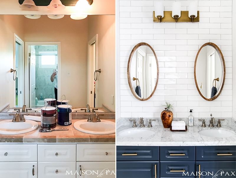 DIY painted bathroom cabinets- Maison de Pax