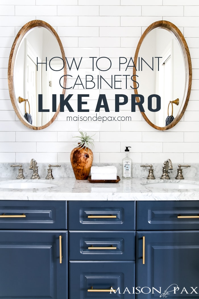 How To Paint Cabinets To Last Painting A Bathroom Vanity Maison - Painting bathroom vanity laminate
