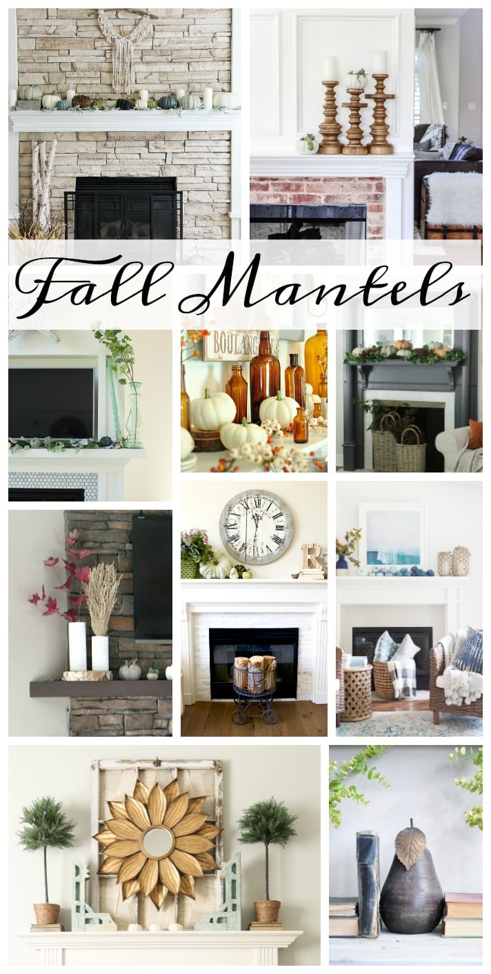 Gorgeous fall mantels and fall decorating ideas- Maison de Pax