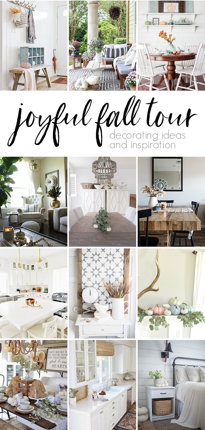 Looking for fall decorating ideas? Tour 12 bloggers' homes and find beautiful inspiration for fall decor and encouragement to make your home cozy for fall!